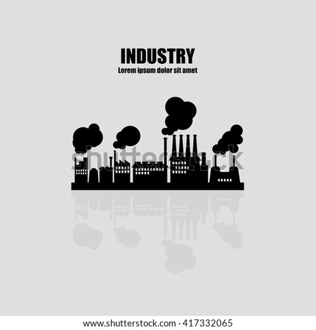 factory industry icon vector illustration