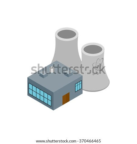 Factory isometric 3d icon isolated on a white background - stock vector