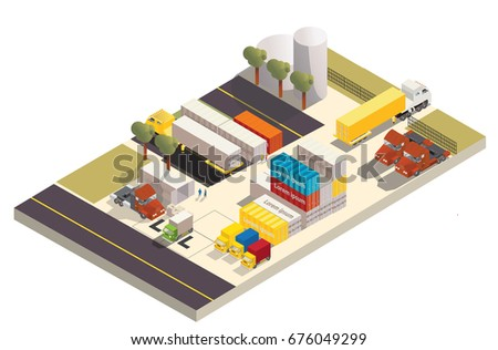 Factory isometric expand version