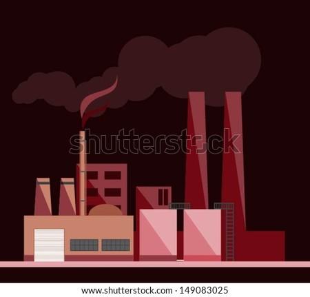Factory.vector - stock vector