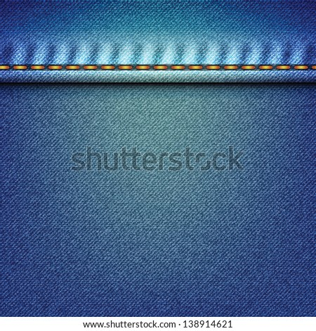 Faded Pale Denim Jeans Texture Vector Stock Vector 138914621 ...