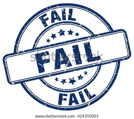 fail blue grunge round vintage rubber stamp.fail stamp.fail round stamp.fail grunge stamp.fail.fail vintage stamp. - stock vector