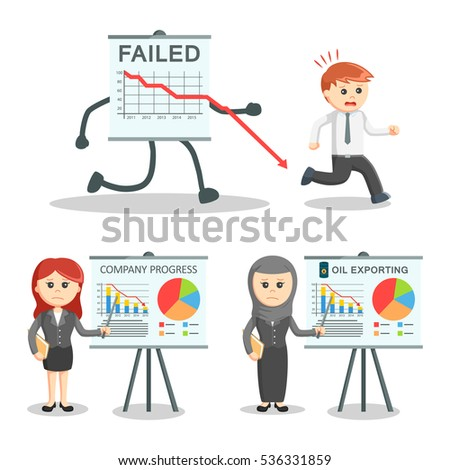 Office Syndrome Infographics Flat Character Icons Stock ...