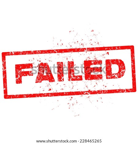 FAILED red stamp text on white. - stock vector