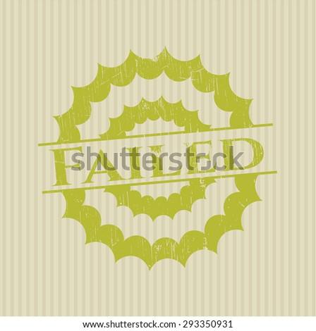 Failed rubber grunge seal - stock vector