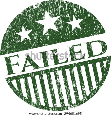 Failed rubber grunge stamp - stock vector