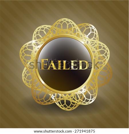 Failed shiny gold object - stock vector