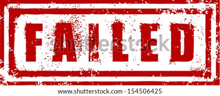 FAILED STAMP - stock vector