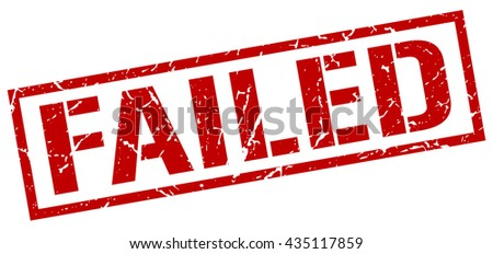 failed stamp.stamp.sign.failed. - stock vector