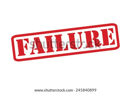 FAILURE  Red Rubber Stamp vector over a white background. - stock vector