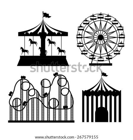 Fair design over white background, vector illustration - stock vector