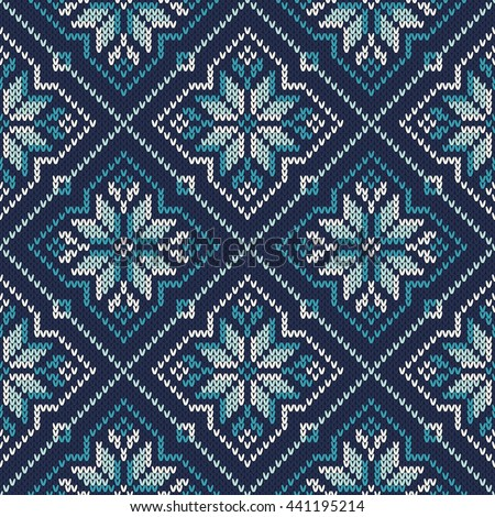 Fair Isle Style Knitted Sweater Design Stock Vector 441195214 ...