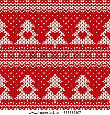 Fair Isle Sweater Design Seamless Knitted Stock Vector 355684307 ...