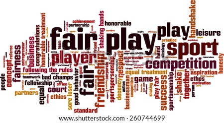 Fair play word cloud concept. Vector illustration - stock vector