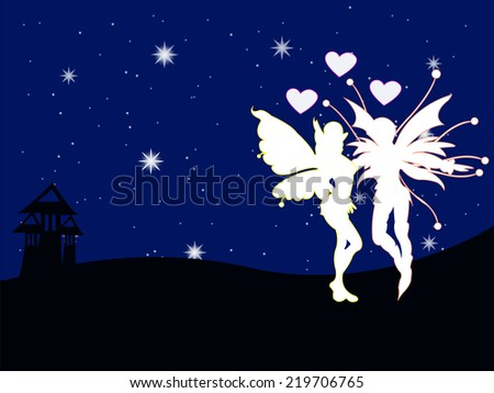 Fairy Butterfly man  of the night love