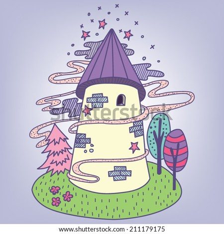 Fairy Castle / Vector illustration of fairy tale castle - stock vector