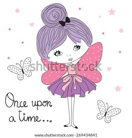 fairy girl vector illustration - stock vector