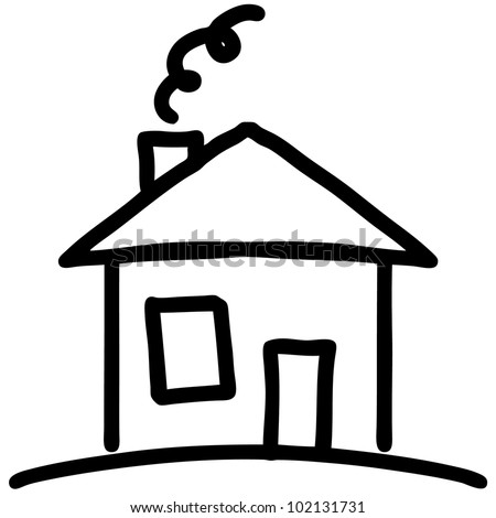 House drawing stock images royalty free images vectors for Drawing of small house