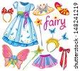 Fairy set - stock vector