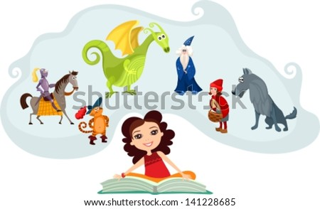 fairy tale - stock vector