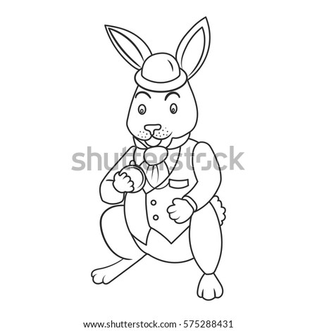 Fairy Tale Bunny Coloring Book Vector Stock Vector 575288431 ...