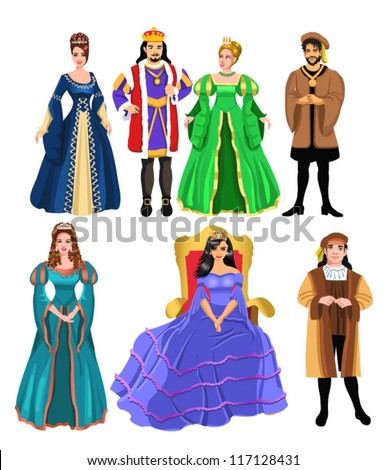 fairy tale characters - stock vector