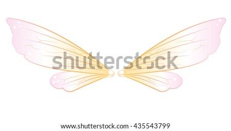fairy wings - stock vector