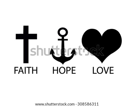Faith stock vectors images vector art shutterstock - Faith love hope pictures ...