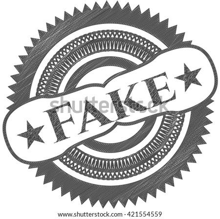 Fake draw (pencil strokes) - stock vector