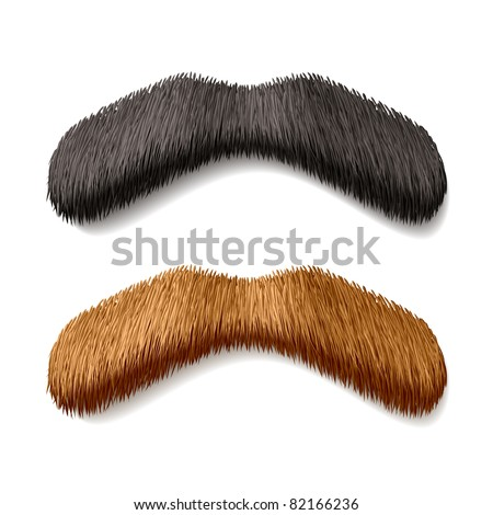 Fake mustaches. Vector. - stock vector
