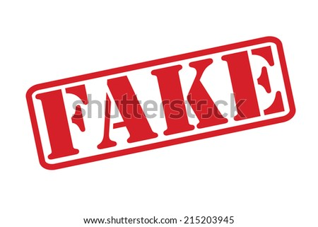 FAKE Rubber Stamp vector over a white background. - stock vector