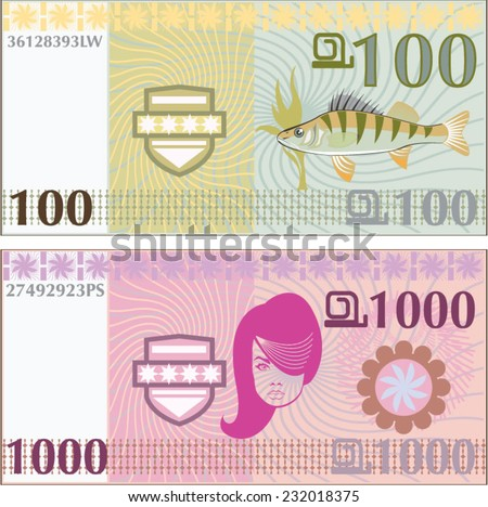 Fake vector money - stock vector