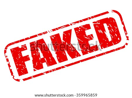 FAKED red stamp text on white - stock vector