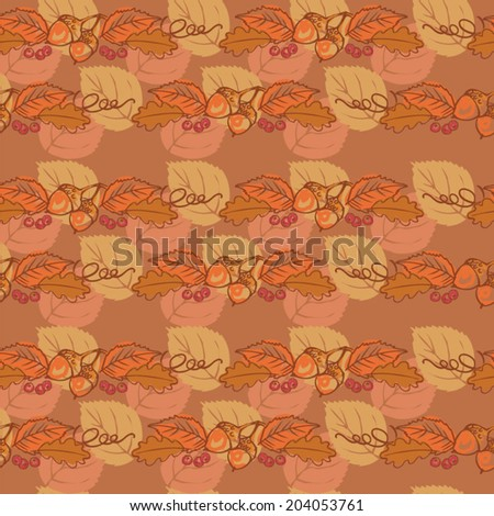 Fall autumn seamless background