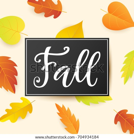fall banner template bright colorful autumn stock vector 704934184
