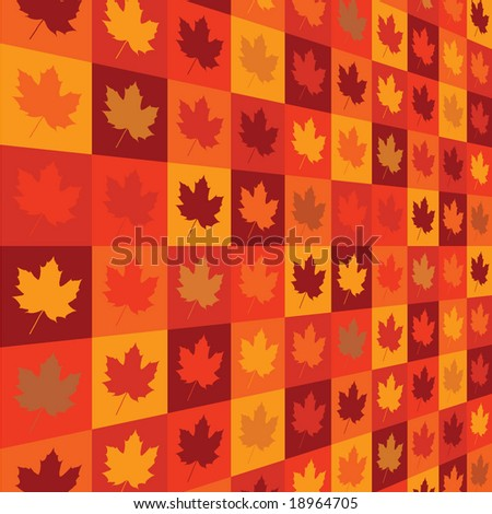 fall leaf pattern - stock vector