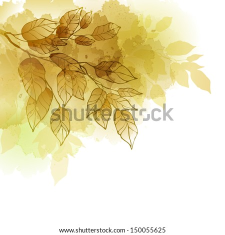 Fall leafs abstract background - stock vector