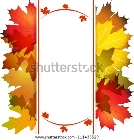 Fall leafs abstract background with place for your text - stock vector