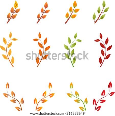 Fall Leave Vectors, Leaf Vector - stock vector