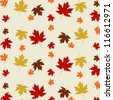 Fall pattern - stock vector