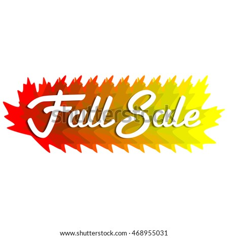 Fall Sale design. Lettering. Autumn leaves.