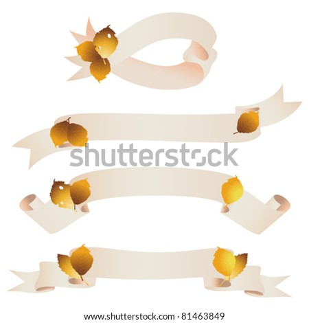 fallen leaves ribbon