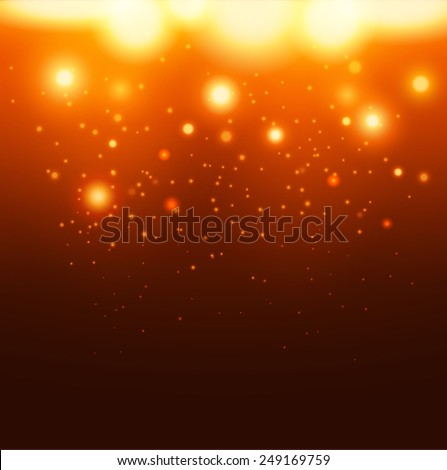 Falling fire sparkles background. Vector eps10. - stock vector