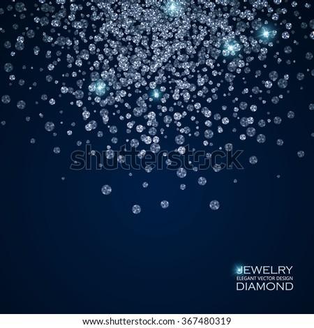 falling blue diamonds background