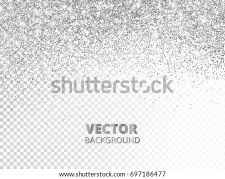 Falling glitter confetti vector silver dust stock vector 697186477 falling glitter confetti vector silver dust isolated on transparent background sparkling glitter border stopboris Images