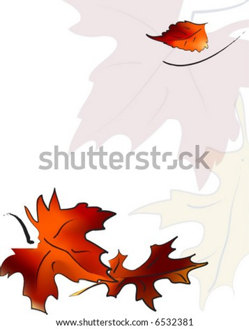 Falling Leaf Leaves Pattern Background - stock vector