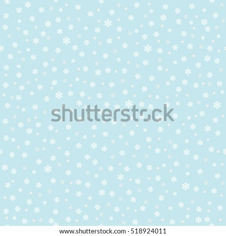 Falling snow background with snowflakes