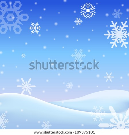falling snow on the gray background - vector image