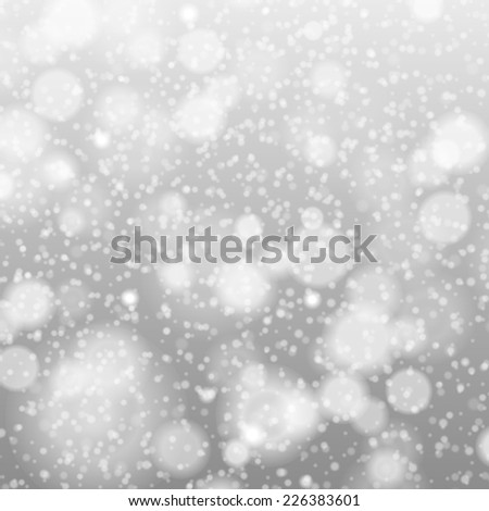 falling snow on the gray - vector image art grey