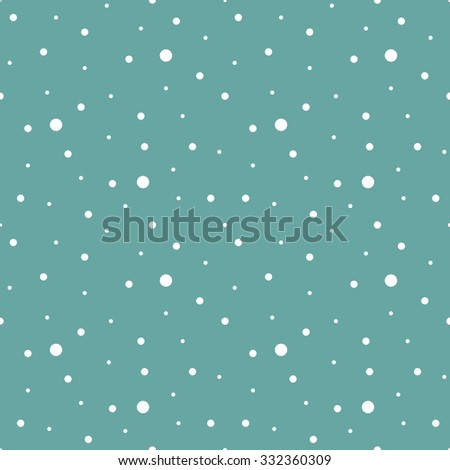 Falling snow seamless pattern, background template - stock vector